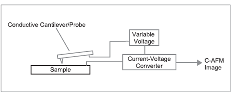 Conductive Atomic Force Microscope diagram