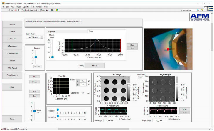 Scanning Force Microscopy: 7-Step Scanning Software Window
